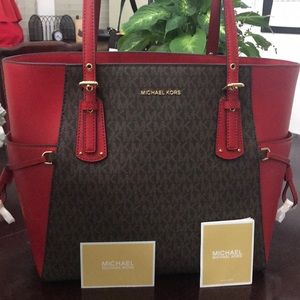 Michael Kors voyager tote leather